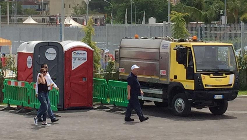 Casalnuovo inaugurata l isola ecologica tailorsan noleggio wc chimici - Noleggio bagni chimici firenze ...