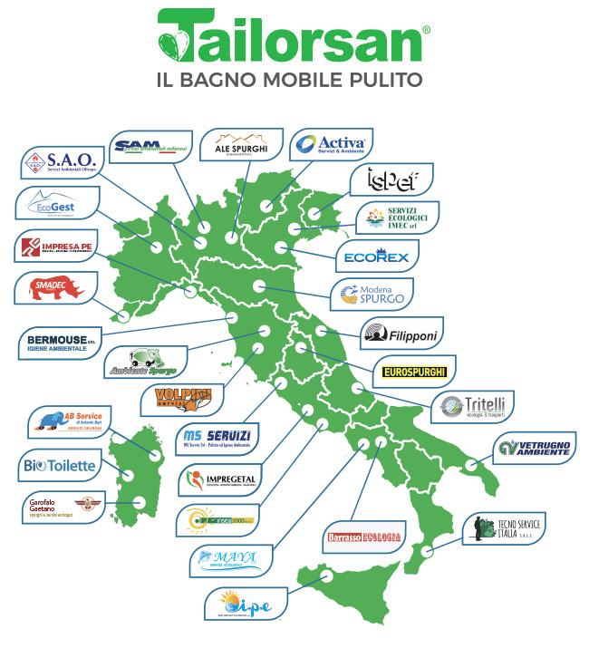 Noleggiatori Bagni chimici in Italia